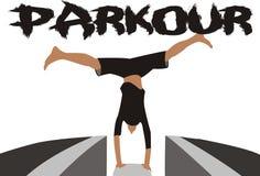 Parkour传染媒介 库存图片