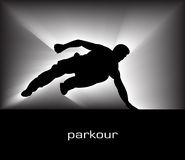 parkour royaltyfri illustrationer