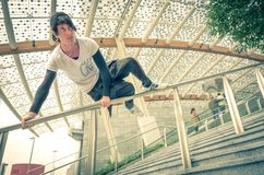 Parkour athlete Stock Images