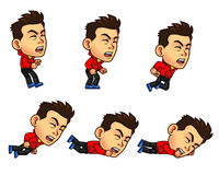 Parkour Boy Animation Sprite Royalty Free Stock Photo