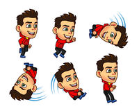 Parkour Boy Animation Sprite Stock Images