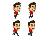 Parkour Boy Animation Sprite Royalty Free Stock Images