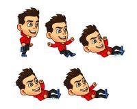 Parkour Boy Animation Sprite Stock Photos