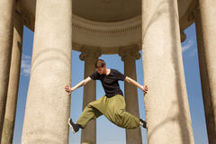 Parkour in the city Stock Images