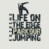 Parkour concept t-shirt Royalty Free Stock Photos
