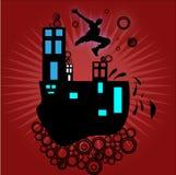 Parkour extremo coloreado Imagen de archivo libre de regalías