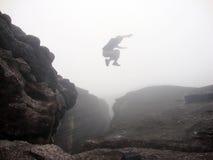 Parkour hoppar Fotografering för Bildbyråer