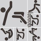 Parkour icons Royalty Free Stock Photo