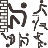 Parkour icons sets Royalty Free Stock Images
