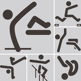 Parkour icons sets Royalty Free Stock Image