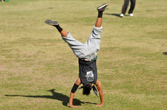 Parkour in indonesia Stock Image