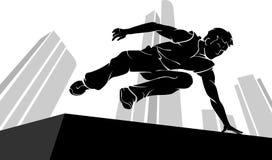 Parkour Jump Silhouette Stock Photo