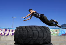 Parkour jumps Royalty Free Stock Images