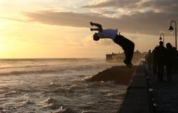 Parkour performer, Cadiz, Spain Royalty Free Stock Images