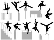 Parkour poses Royalty Free Stock Image