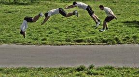 Parkour-Rolle Stockfoto