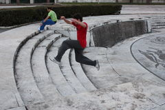 Parkour, Rome Royalty Free Stock Image
