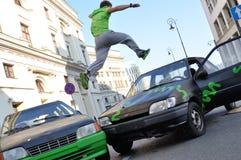 Parkour-Sprung Lizenzfreies Stockbild