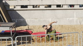 Parkour Training. Fitness, sport. Young guys stock footage