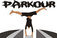 Parkourvector Stock Afbeelding