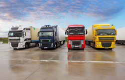 Parkować ciężarówki Obraz Stock