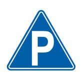 Parkuje znak na bielu royalty ilustracja