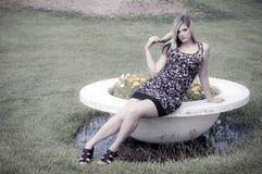 parkowa ładna kobieta Fotografia Stock