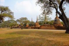 Parkowa antyczna świątynia przy Ayutthaya, Tajlandia Obraz Stock