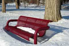 Parkowa ławka Zdjęcia Royalty Free