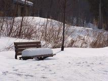 Parkowa ławka Obraz Royalty Free