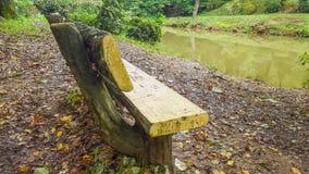 Parkowa ławka w parku obraz stock