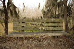 Parkowa ławka w parku narodowym Fotografia Stock