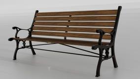 Parkowa ławka z dekoracyjnymi stronami Obraz Royalty Free