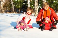 parkowa bawić się zima Zdjęcia Royalty Free