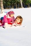 parkowa bawić się zima Obrazy Royalty Free
