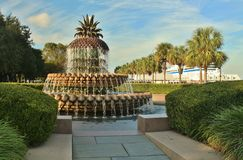 Parkowa fontanna Zdjęcie Royalty Free