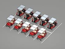 Parkować golfowego samochód Zdjęcie Stock