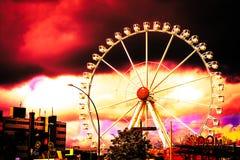 Parkowa Hamburska Niemcy burza fotografia stock