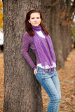 parkowa jesień kobieta Obrazy Royalty Free