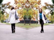 parkowa jesień kobieta Zdjęcie Royalty Free