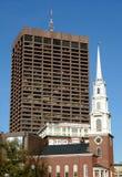 parkowa kościół ulica zdjęcia stock
