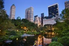 parkowa Manhattan środkowa linia horyzontu Zdjęcie Stock