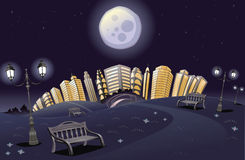 parkowa noc tęcza Obrazy Stock