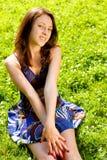 parkowa odpoczynkowa kobieta Zdjęcia Stock