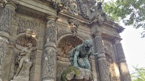 Parkowa Paris medici fontanny turystyka Fotografia Royalty Free