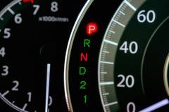 Parkowa parking przekładni P pozycja każdy czas Fotografia Stock