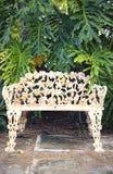 Parkowa rocznik ławka Obrazy Royalty Free