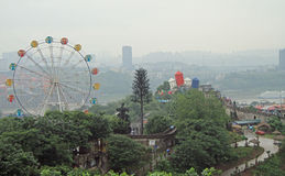 Parkowa rozrywka z dużym toczy wewnątrz Chongqing zdjęcie stock