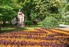 Parkowa rzeźba źródło (Prie saltinio) Druskininkai, obraz stock