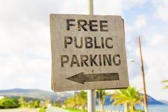 Parkować znaka, ruchu drogowego znaka deska Obraz Stock